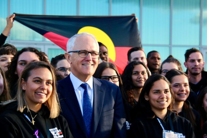 National Indigenous Youth Parliament delegates meet with Prime Minister Malcolm Turnbull.
