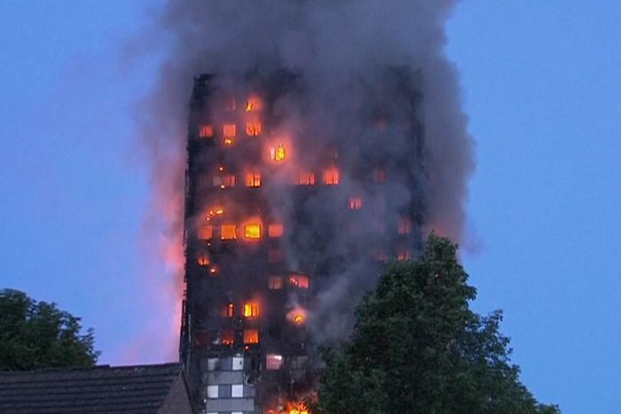 Risultati immagini per London fire: fears of people trapped as major blaze engulfs tower block – latest