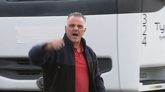 Tony Di Carlo was not happy when the ABC filmed a fire at the Rocklea Tyremil business in June 2017.