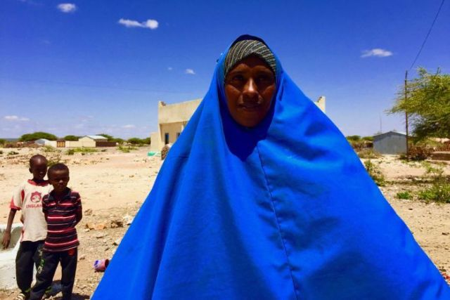 Woman at well in Somaliland