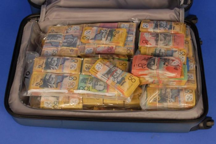 A suitcase of money
