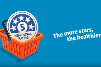 A screen capture of promotional material from the Health Star Rating System says