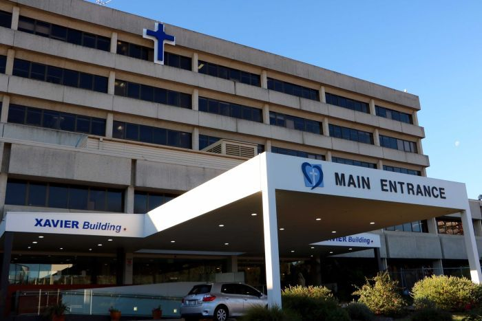 Photo showing outside of the Xavier building at Calvary Hospital in Canberra
