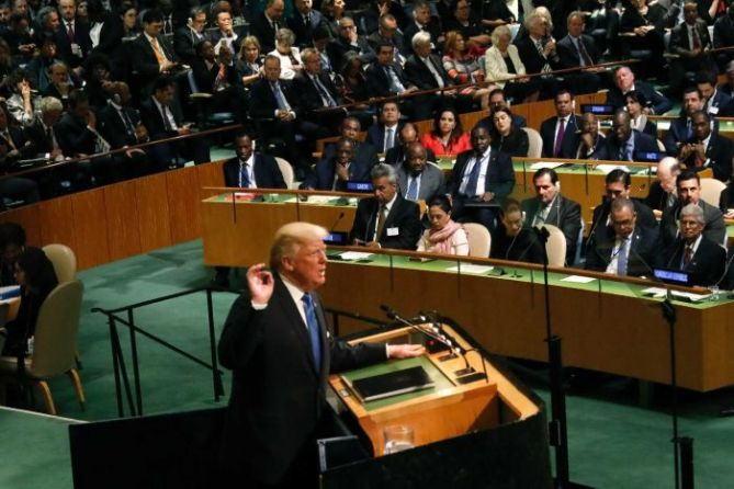 Image result for Trum' speech at U.N
