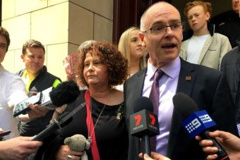 Matt and Robyn Cronin speak outside court after Andrew Lee is sentenced for the manslaughter of their son Patrick.