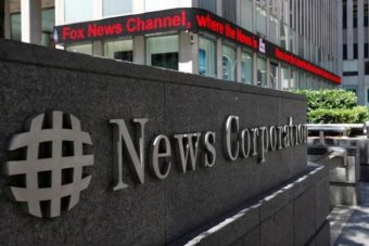 News Corporation sign in New York
