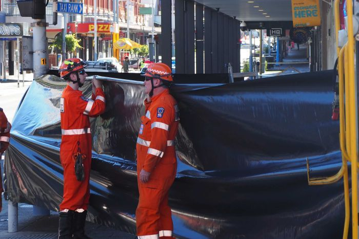 Two SES workers on Hindley Street following fatal fight.