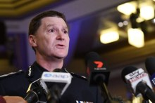 Victoria Police Acting Assistant Commissioner Shane Patton speaks to the media.