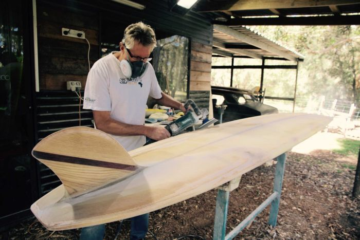 Wayne Winchester restores vintage surfboards on WA's south coast