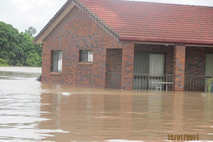 Lubo Jonic's two-storey house at Goodna, west of Brisbane, which was flooded in the 2011 floods.