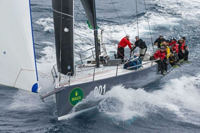 The crew of 52-foot yacht, Ichy Ban, sail in to take handicap honours in the Sydney to Hobart.