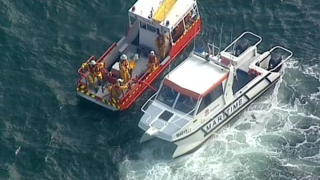 Search for survivors after seaplane crashes into Hawkesbury River