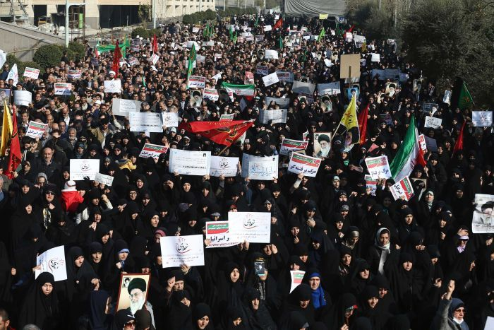 Image result for Iran protests, burning, Photos, January 2018