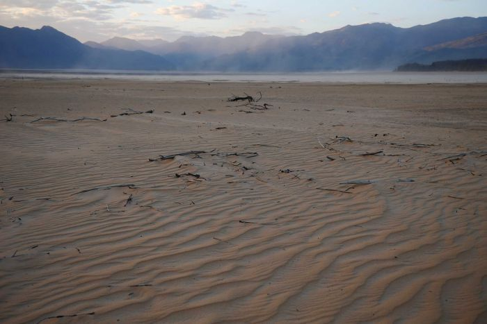 A general view of the dried up Theewaterskloof dam near Cape Town.