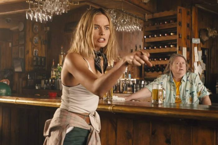 Margot Robbie in Tourism Australia ad taking off Croc Dundee