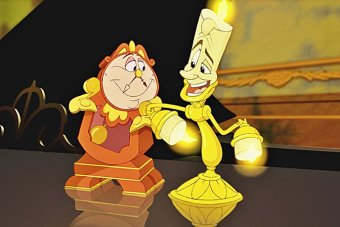 Cogsworth and Lumiere from the 1991 film Beauty and the Beast.