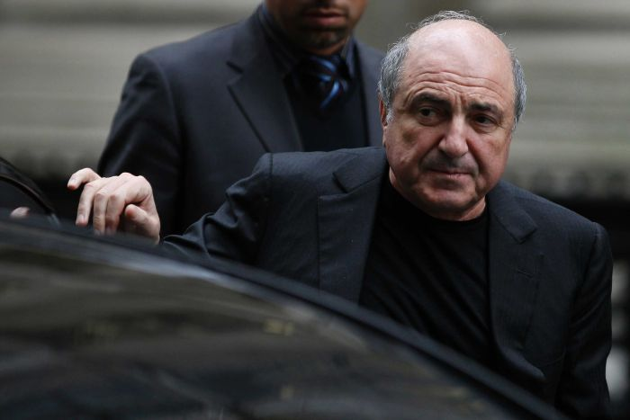 Boris Berezovsky arrives at the High court in London