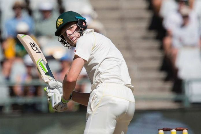 Cameron Bancroft turns it down to fine leg.