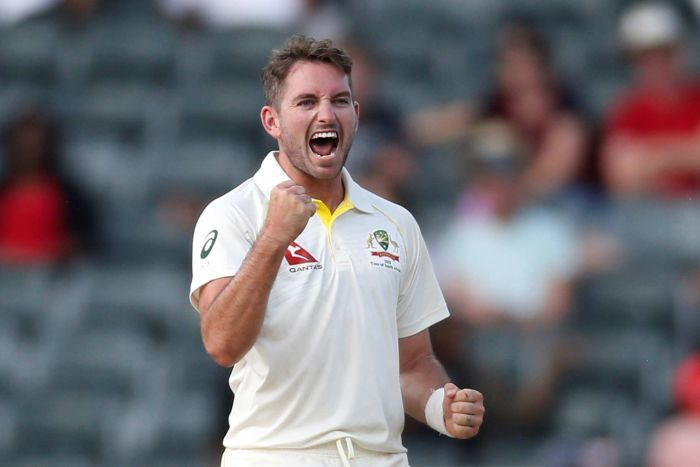 Chadd Sayers pumps his fist while yelling.