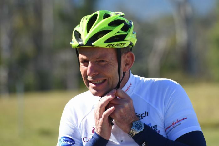 Tony Abbott cycling