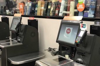 Checkouts not working at a Woolworths store