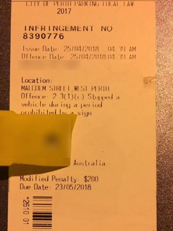 An image of a parking ticket.