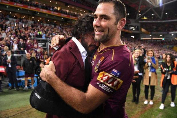 Cameron Smith (L) played much of his Origin career alongside Johnathan Thurston.