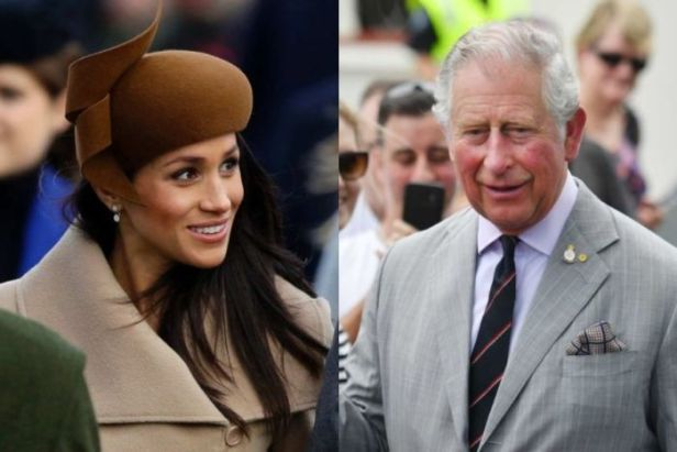 A composite image of Meghan Markle and Prince Charles.