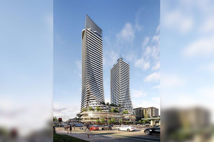 Artist's impression of soaring twin towers planned for Scarborough