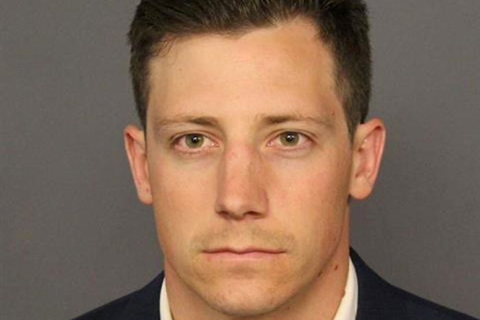 Head shot of Chris Bishop, the FBI agent who was charged after accidentally shooting his gun at a person while dancing in a bar.