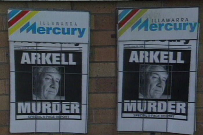 1998 front page newspaper coverage of Arkell murder
