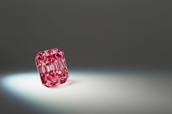 The Argyle Alpha vivid pink diamond, weighing in at 3.14 carats.