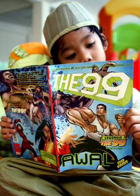 The publisher says the comic book will appeal to young Indonesians, who increasingly enjoy Western-style media.