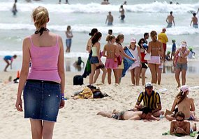 Self-conscious ... A new study says young people are increasingly worried about body image