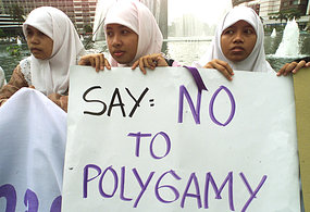 Indonesian women are calling on the Government to abolish polygamy. (File photo)