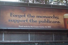 Coopers beer ad upsets monarchists