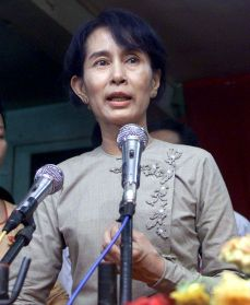 Ms Suu Kyi has been in prison for much of the past 20 years. (Reuters: Sukree Sukplang, file photo)
