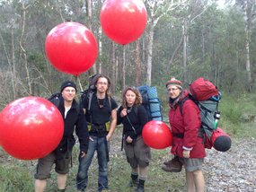 Shoalwater Bay protesters Jarrod McKenna, Rev. Simon Moyle, Jessica Morrison and Margaret Pestorius