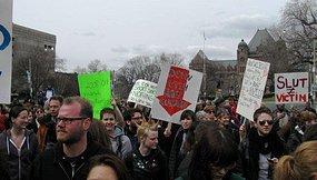 Protesters participate in SlutWalk Toronto