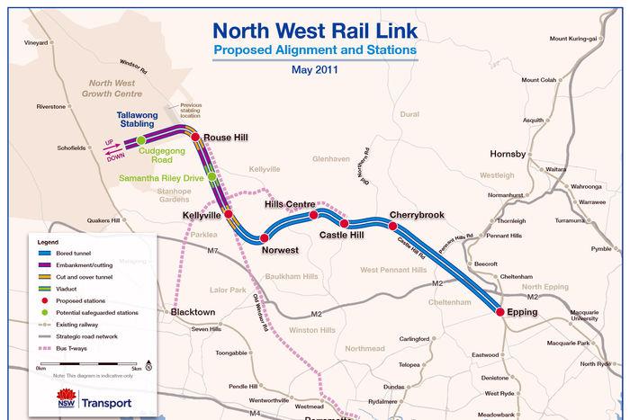 NWRL route