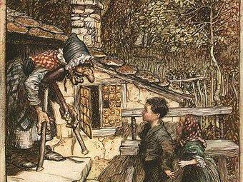 Hansel and Gretel by Arthur Rackham.