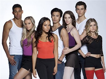 The cast of Dance Academy: seven young, attractive dancers.