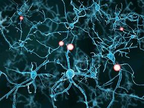 CGI of neurons sending signals