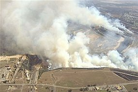 Smoke from Hazelwood mine fire has been blowing across the town of Morewell, Vic., Australia over the past two weeks.