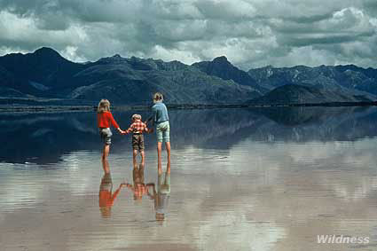 Truchanas children at Lake Pedder, Tasmania. Photo by Olegas Truchanas. © Melva Truchanas