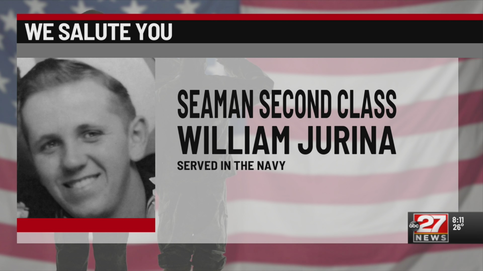 We Salute You William Jurina