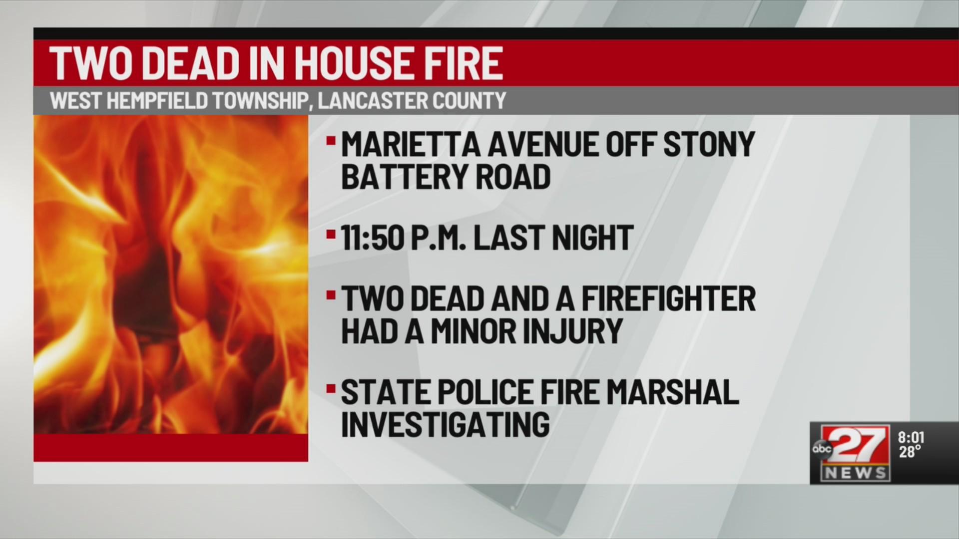 Deadly house fire in West Hempfield