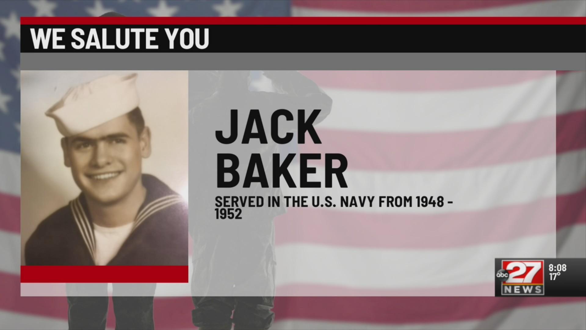 We Salute You: Jack Baker