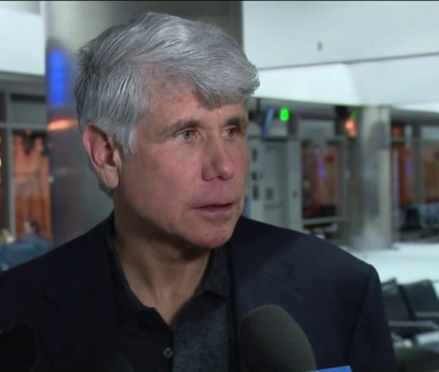Rod Blagojevich Speaks At Denver Airport Prior To Flight Home Abc