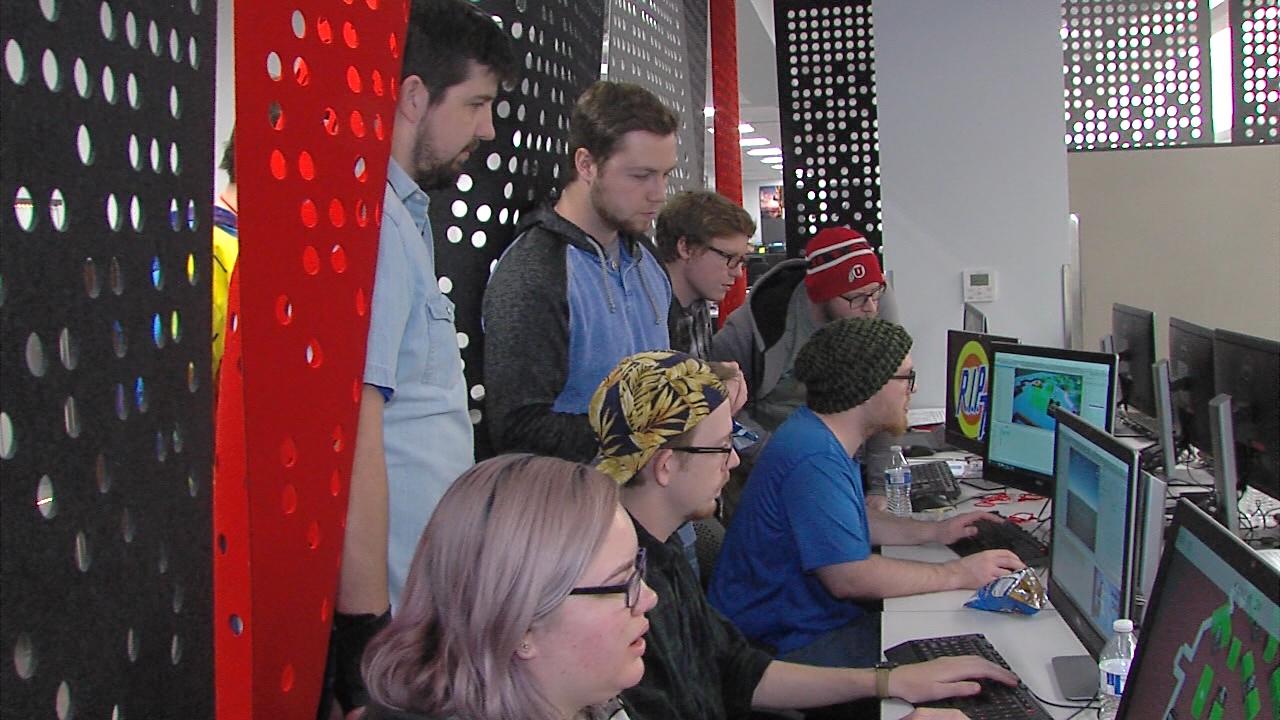 University of Utah students & faculty create video games during